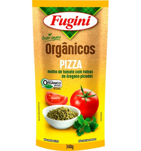 Molho de Tomate Pizza Orgânico Fugini 340g