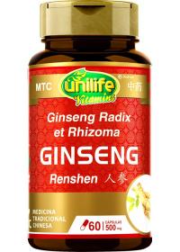 Ginseng (Radix Ginseng - Ren Shen) Unilife 60 cápsulas de 500mg