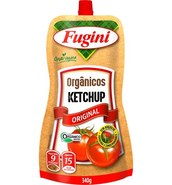 Ketchup Orgânico Sachê Fugini 340g