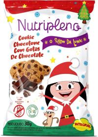 Cookie Chocotone C/ Gotas de Chocolate O Show da Luna Sem Glúten Nutripleno 30g
