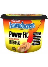 Pasta de Amendoim Integral Power Fit Amendocream Fugini 400g