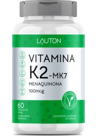 Vitamina K2-MK7 Menaquinona 100µg Lauton 60 cápsulas
