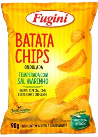 Batata Chips Ondulada Fugini 90g