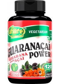 Guaranaçaí Power Guaraná Açaí Unilife 120 cápsulas de 500mg