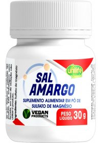 Sal Amargo em Pó Sulfato De Magnésio Unilife 30g