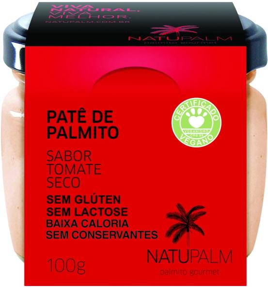 Patê de Palmito Sabor Tomate Seco Natupalm 100g
