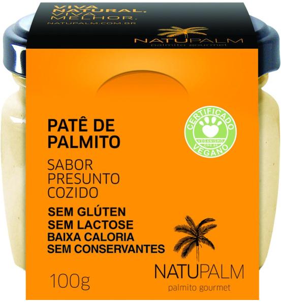 Patê de Palmito Sabor Presunto Vegano Cozido Natupalm 100g