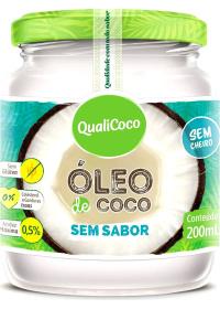 Óleo de Coco Sem Sabor e Sem Cheiro Qualicoco 200ml