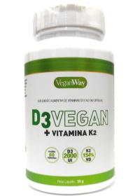 Vitamina D3 Vegan 2000UI + Vit. K2 VeganWay 60 cápsulas