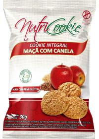 Cookie Integral Maçã com Canela Sem Glúten Nutricookie 30g