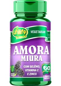 Amora Miura C/ Selênio, Vit. C e Zinco Unilife 60 cápsulas