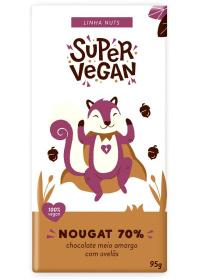 Chocolate Meio Amargo C/ Avelãs Super Vegan 95g