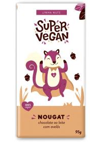 Chocolate ao Leite de Arroz C/ Avelãs Super Vegan 95g