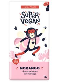 Chocolate Branco C/ Morango Super Vegan 95g
