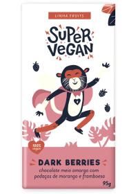 Chocolate Meio Amargo C/ Pedaços de Morango e Framboesa Super Vegan 95g