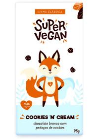 Chocolate Branco C/ Pedaços de Cookies Super Vegan 95g