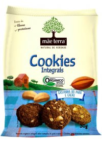 Cookie Orgânico Castanha do Pará e Cacau Mãe Terra 30g