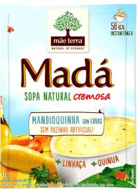 Sopa Madá Mandioquinha com Ervas + Linhaça + Quinua Mãe Terra 17g
