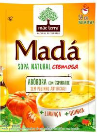 Sopa Madá Abóbora com Espinafre + Linhaça + Quinua Mãe Terra 17g