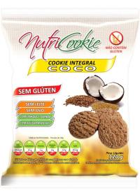 Cookie Integral Coco Sem Glúten Nutricookie 120g