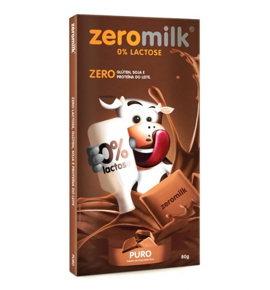 Tablete Chocolate Puro ZeroMilk Genevy 80g