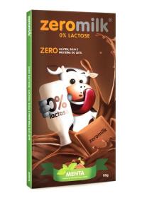 Tablete Chocolate Sabor Menta ZeroMilk Genevy 80g