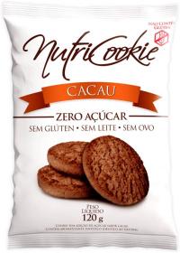 Cookie Zero Açúcar Cacau Sem Glúten Nutricookie 120g