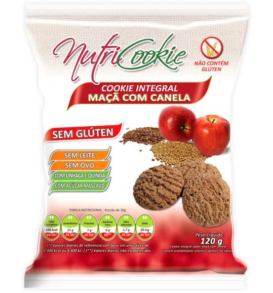 Cookie Integral Cacau Sem Glúten Nutricookie 120g