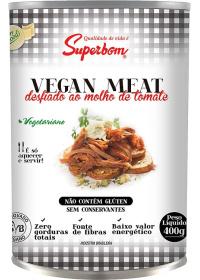 Vegan Meat Desfiado ao Molho de Tomate Superbom 400g