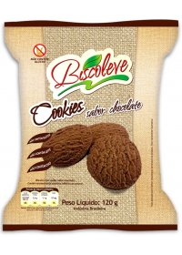 Cookie Sem Glúten Chocolate Biscoleve 120g