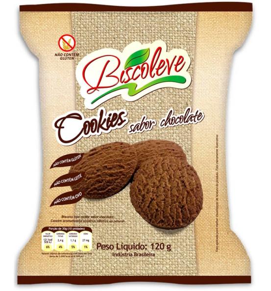 Cookie Sem Glúten Chocolate Biscoleve 120g