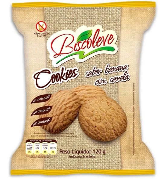 Cookie Sem Glúten Banana com Canela Biscoleve 120g