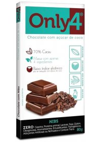 Chocolate Only4 com Nibs Genevy 80g