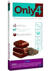 Chocolate Only4 com Chia Genevy 80g