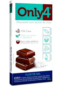 Chocolate Only4 com Flor de Sal Genevy 80g