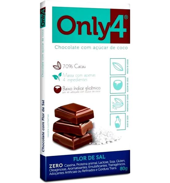 Chocolate Only4 com Flor de Sal Genevy 80g