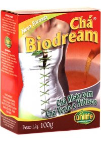 Chá Misto Biodream com Chá Verde e Hibisco Unilife 100g