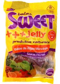 Balas de Algas Marinhas Sabor Frutas Sweet Jelly 200g