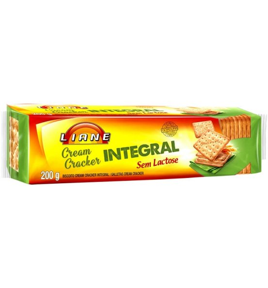 Biscoito Cream Cracker Integral Liane 200g