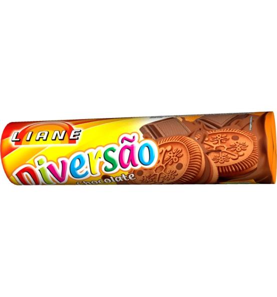 Biscoito Recheado Diversão Chocolate Liane 115g