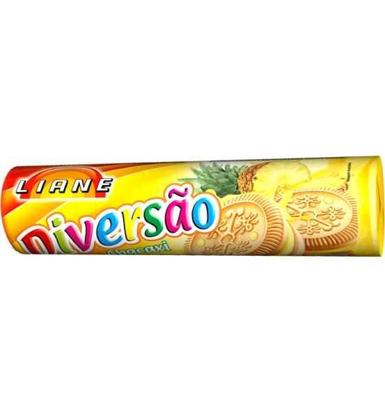 Biscoito Recheado Diversão Sabor Abacaxi Liane 115g
