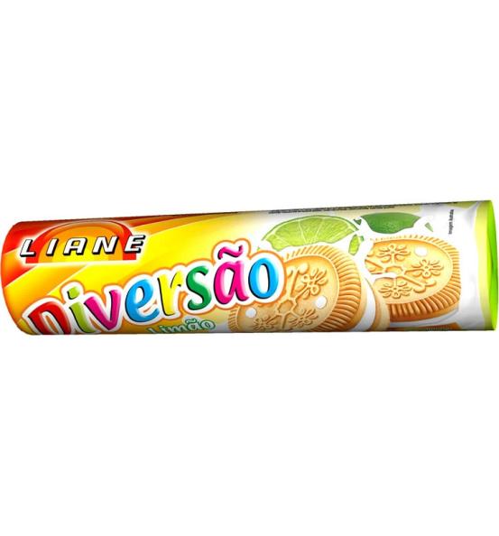 Biscoito Recheado Diversão Sabor Limão Liane 115g