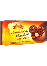 Biscoito Amanteigados Sabor Chocolate Liane 315g