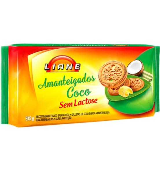 Biscoito Amanteigados Sabor Coco Liane 315g