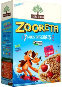 Cereal Matinal Orgânico Zooreta Sabor Original Mãe Terra 250g