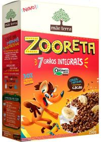 Cereal Matinal Orgânico Zooreta Sabor Cacau Mãe Terra 250g