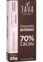 Chocolate 70% Cacau Intenso Java Chocolates 25g