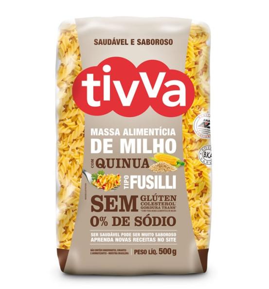 Massa de Milho Fusilli com Quinua Tivva 500g