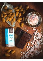 Chocolate 70% Cacau + Sal do Himalaia e Amêndoas Java Chocolates 25g