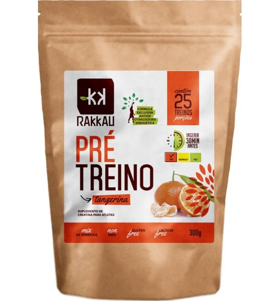 Pré Treino (Creatina) Sabor Tangerina Rakkau 300g